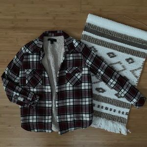 Forever 21 Fleece Lined Plaid Flannel